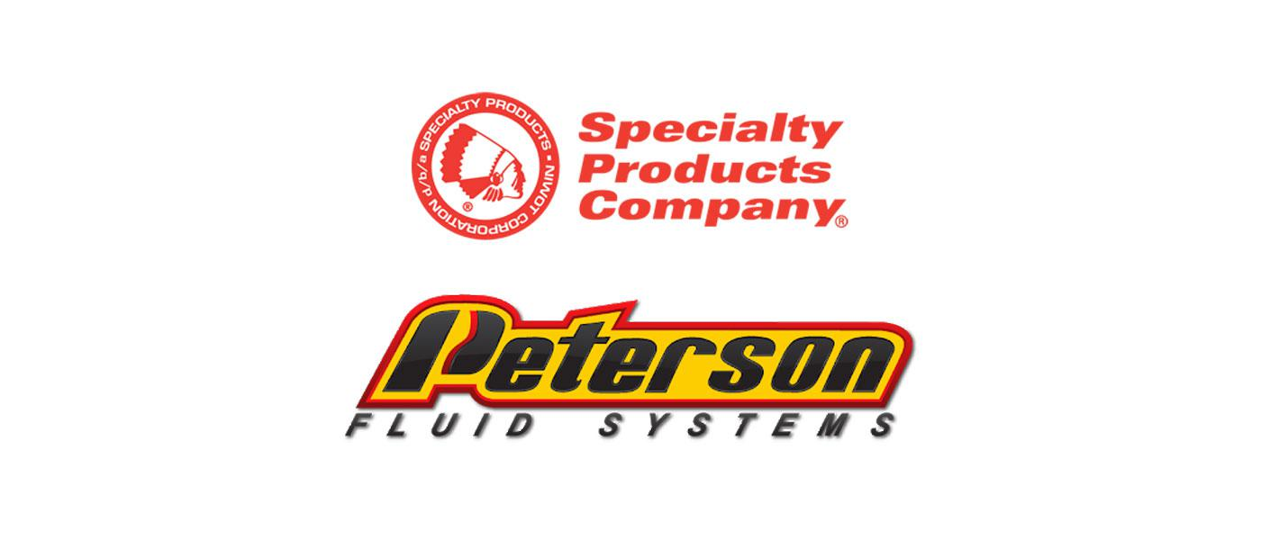Specialty Products Company logo, Peterson Fluid Systems logo
