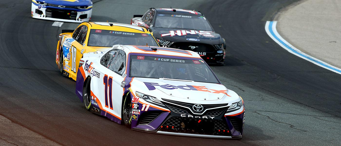 Monster Energy NASCAR Cup Series competitors on track