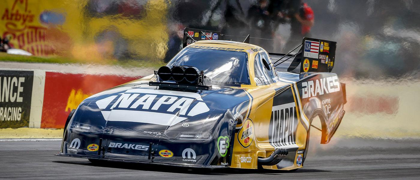 Photo of Ron Capps at the 2019 NHRA Southern Nationals courtesy of Atlanta Dragway