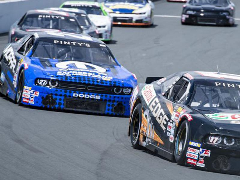 NASCAR Pinty's Series cars on track