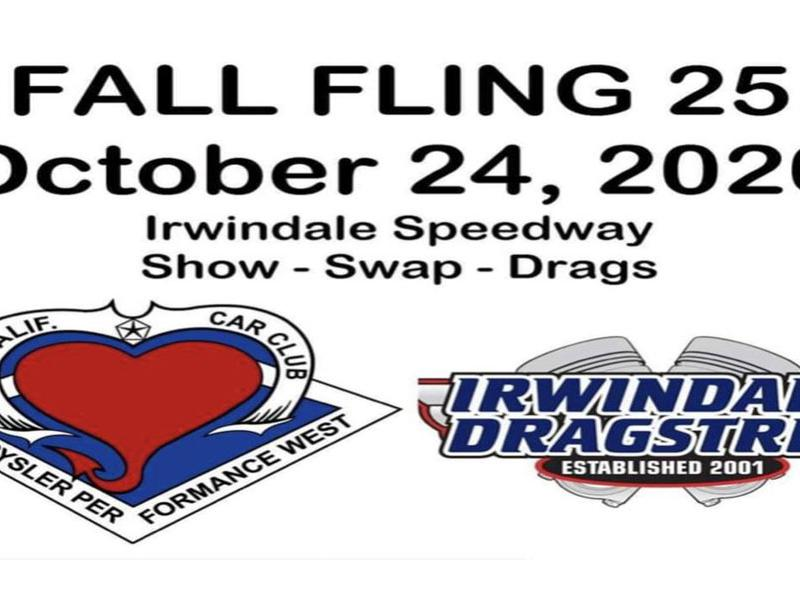 Fall Fling 25th at Irwindale Speedway