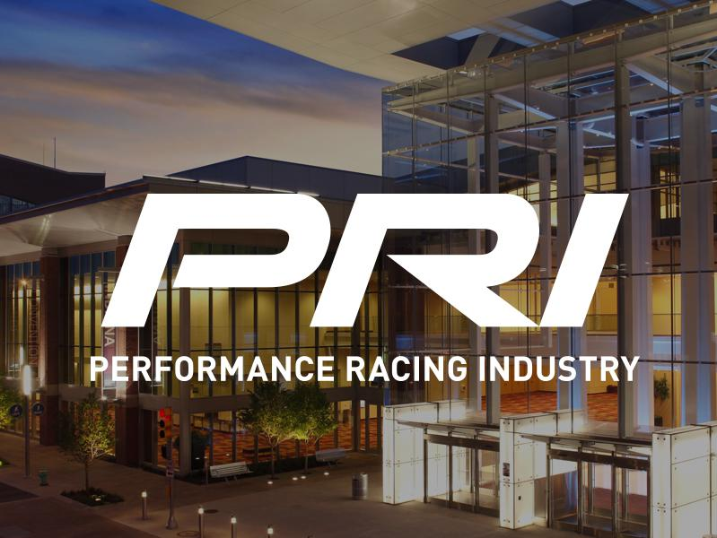 PRI logo in front of Indiana Convention Center