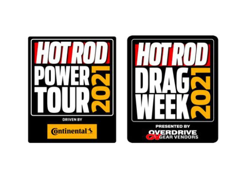 HOT ROD Power Tour logo and HOT ROD Drag Week logo