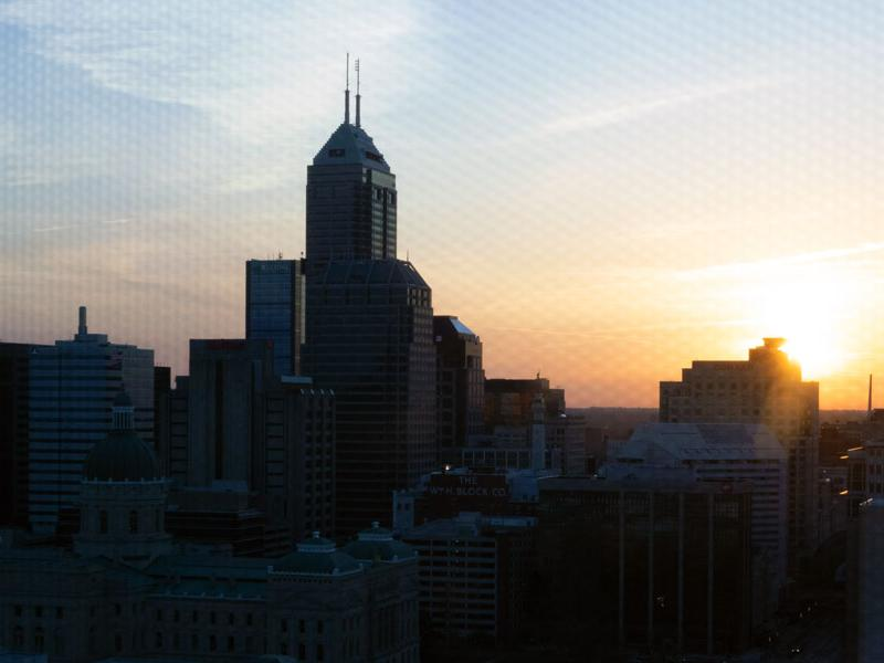 Downtown Indianapolis skyline